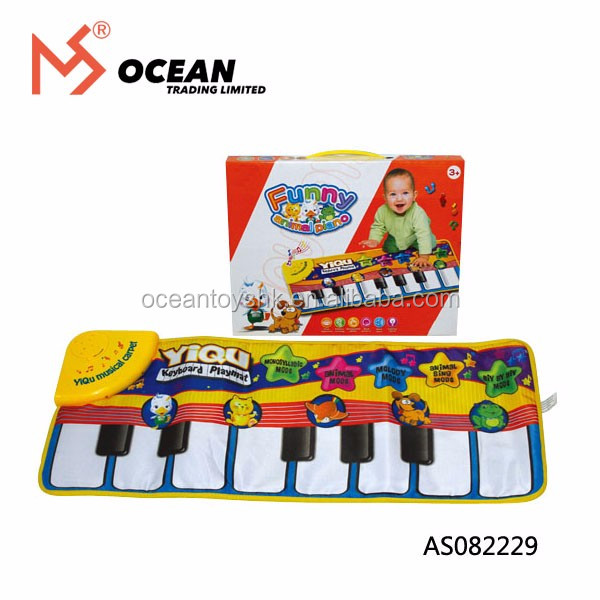 Kids Toy Language Learning Baby Musical Animal Piano Carpet Play Mat