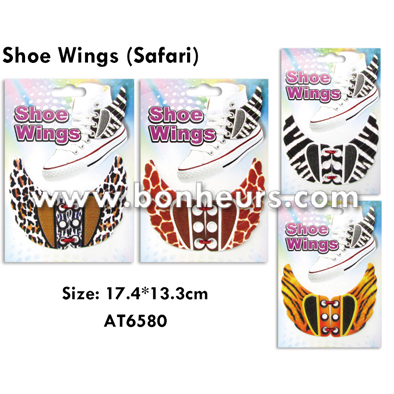 New Novelty Toy Fashion Deco Buckle Print Safari Shoe Wings
