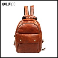 Fashion unique girls leather school soft laptop backpack women bags