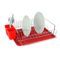 Red Color Chrome Plated Corner Dish Holder