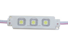 High brightness long lifespan waterproof DC 12V 5050 3 led module with lens