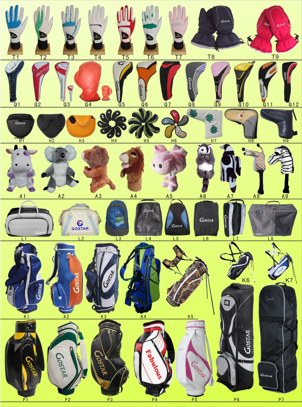 Full Colored Cabretta Leather Golf Glove
