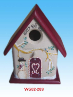 2015 Hot sale decor wholesale hand painted hanging bird house/ wooden bird house/small bird home