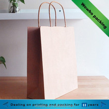 Plain kraft paper bag with tissue handle