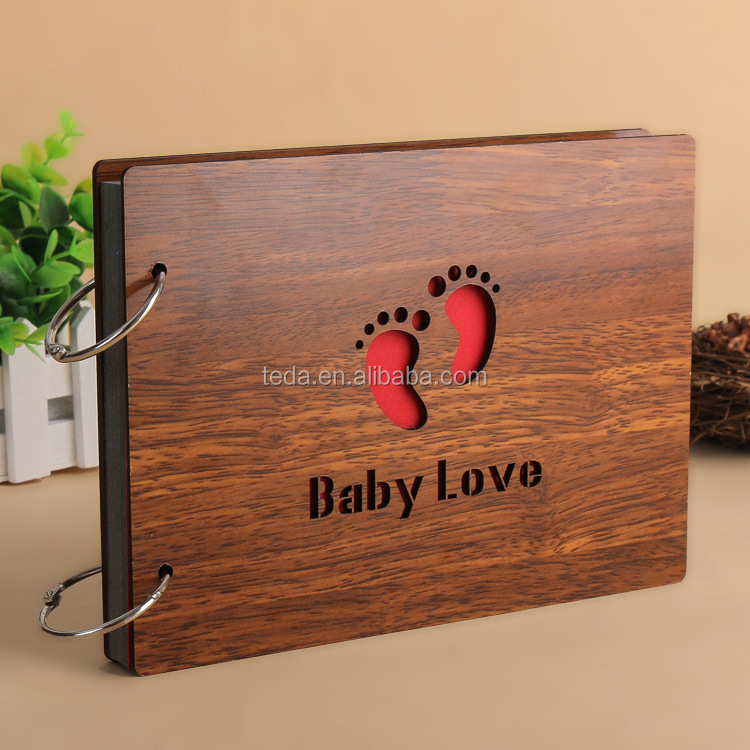 Personalised Design Your Own Baby Wood Photo Album
