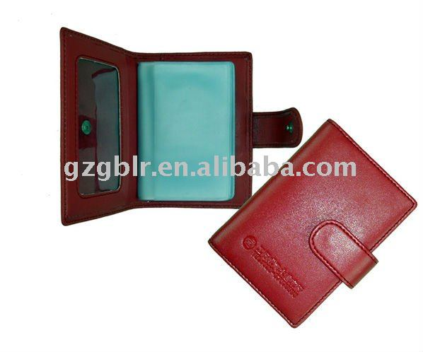 card holder leather/leather card holder/name card pouch