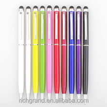 Colorful Metal 2 In 1 Capacitive Screen Stylus Pens Touch Pen For all phone Original