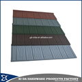 Construction material wood stone coated metal roof tile