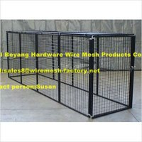 welded mesh dog kennel cage for pet (both welded and chain link)