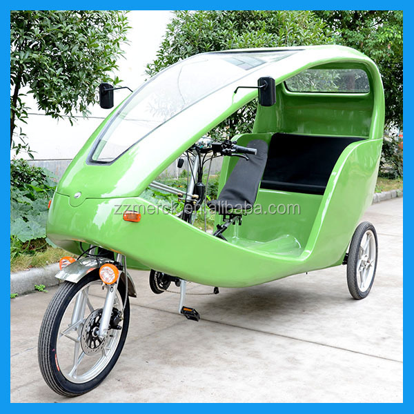 Heavy Load Pedal Assistant Classic Electric Velomobile Taxi Bike