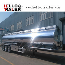 aluminum alloy tanker semi trailer aluminum oil fuel tank for trucks aluminum tank trailer for sale