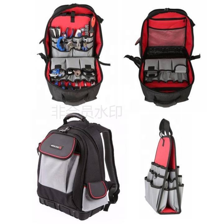 New Design Large Capacity Heavy Duty Electrician Backpack Tool Kit Bag with  independent tool wall 4789109684