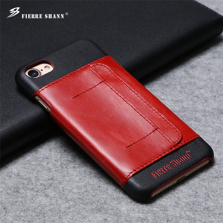 high quality case for iphone 6 genuine leaether card slot phone case