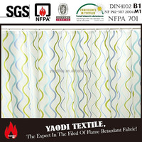 High quality cheap printed polyester oxford shower curtain fabric for sale