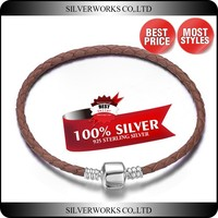 3mm Fashion Ebay Leather Bracelets for Women personalized silver bracelets
