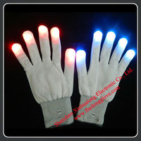 6 Flshing Modes LED Finger Light Gloves 2013 New LED Toys for Kids
