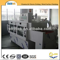 two chamber chemical metal etching machine with spray and swing