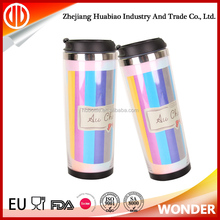 Double Wall Promotional Travel Coffee Mug With Removable Bottom Paper Insert