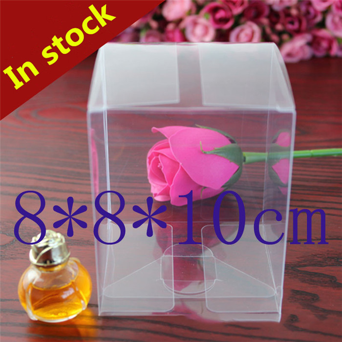 8*8*10cm clear package PVC boxes gifts crafts cases display cake packaging box