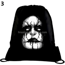 Promotional Canvas Drawstring Bag School Bags Outdoor Backpack Drawstring Backpack