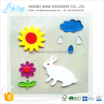 lovely cling gel jelly stickers for window