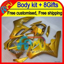 8Gifts Body For TRIUMPH Daytona 675 12-13 ALL Gloss gold 12 13 HM625 Daytona675 2012 ALL Golden 2013 Fairing Kit