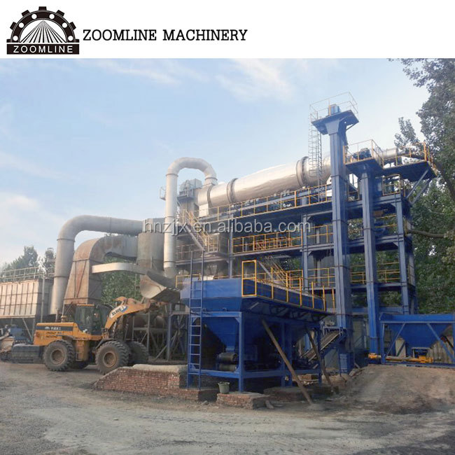 Road construction machinery 60-160tph recycling asphalt mixing plant