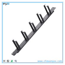 "Five-Ring Horizontal Cable Managers metal type for 1U 19"" cable management"