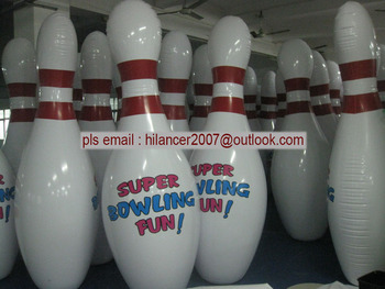inflatable human bolwing pins sports games for sale
