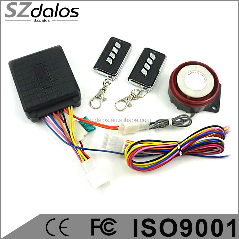 Cheapest One way motocycle alarm system,nice new remote motorcycle alarm