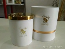 white, black, gold glass jar scented candles with custom logo