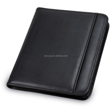 Leather Hardcover Zip Document Holder File Folder
