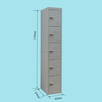 5 Tiers Commercial Safe Lockers with combination lock