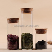 2015 hot selling cheap glass jars with wood lid wholesale made in china