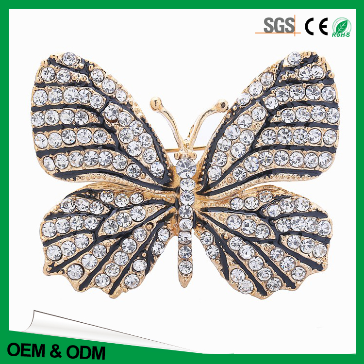 Customized butterfly badge wholesale metal lapel pin