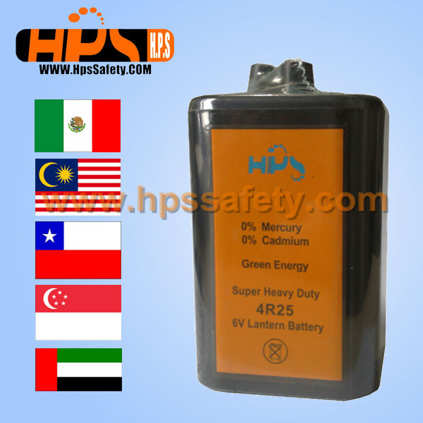 6V4R25 Battery For Traffic Barricade Light