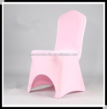 Pink banquet chair cover cheap spandex chair covers for wedding lycra chair cover
