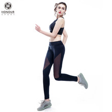 Custom Professional Women's Sports Wear Two Pieces Running Gym Yoga Fitness Wear Set Clothing Suits