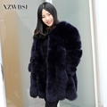 CX-G-A-218E Fashion New Style Wholesale Custom Genuine Fur Coat / Sex Women Winter Natural Real Fox Fur Coat