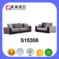 High end 2+4 modern best fabric wooden sofa set designs