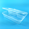 Transparent 3 compartment food containers disposable food container