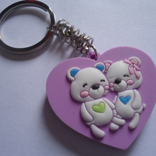Fast delivery The best customized plastic keychain diy