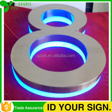 Outdoor Led Back Lit Side Lit Stainless Steel Number