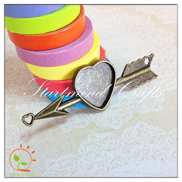 metal arrow setting charm craft for scrapbook