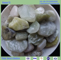 high quality beautiful green jade pebbles