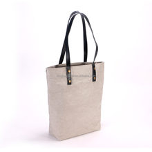 2018 new arrival custom shopping bag/durable recyclable carry bag/Eco-friendly washable kraft paper tote bag