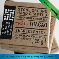 2015 Eco-friendly personalized kraft paper small pieces butter packaging