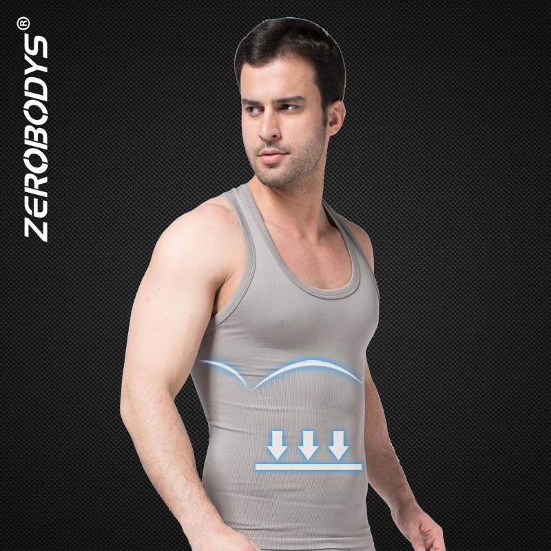 369 Gy Zerobodys Comfortable Mens Body Shaper Quick Dry I Shaped