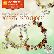 custom metal imitation murano bead charms for pandora gold bracelets charms authentic de in chian