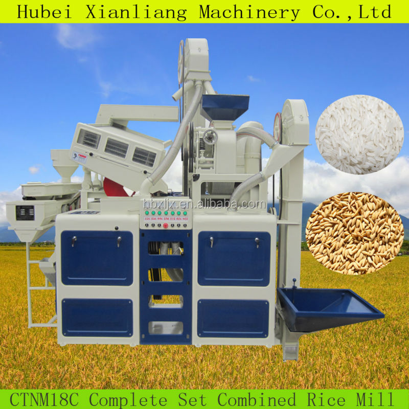 The 20 ton per day automatic complete set of mini rice mill price / price mini rice mill/ mini rice mill plant